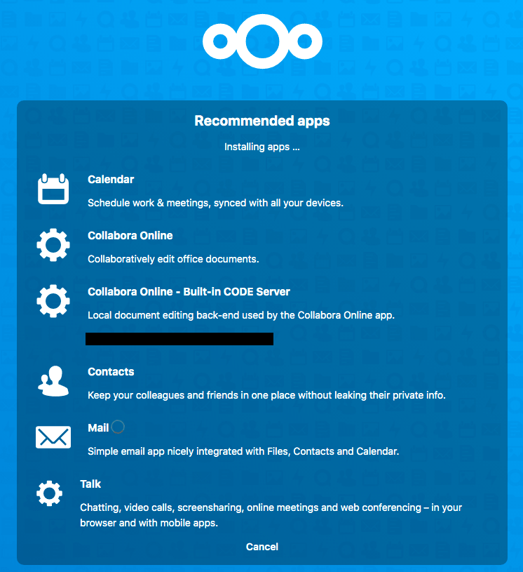 Nextcloud recommended apps page